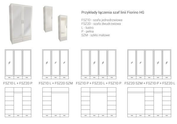 Przykładowe układy szaf FIORINO HG